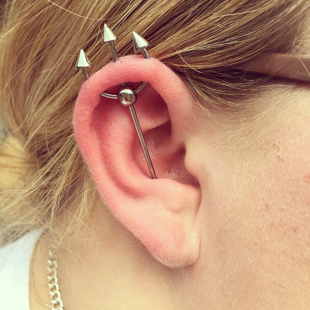 Trident Piercing 25 Ideas Pain Level Healing Time Cost