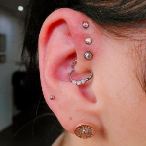 Triple Forward Helix Piercing 50 Ideas Pain Level Healing Time