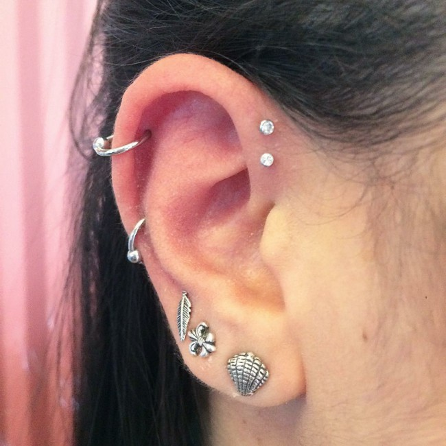 Forward Helix Piercing 50 Ideas Pain Level Healing Time Cost