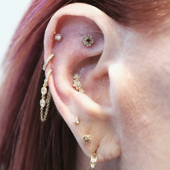 Conch Piercing 50 Ideas Pain Level Healing Time Cost