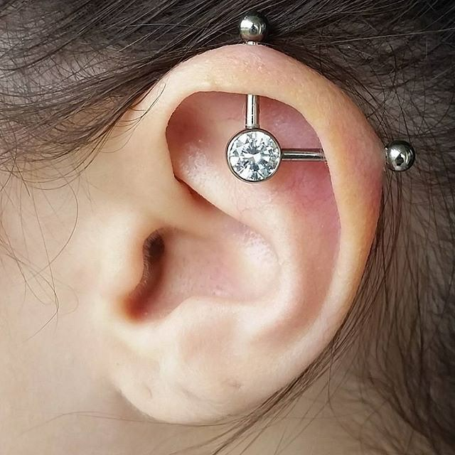 Industrial Piercing 50 Ideas Pain Level Healing Time Cost