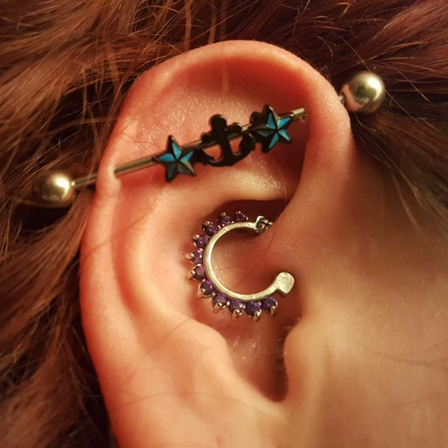 Industrial Piercing 55 Ideas Pain Level Healing Time Cost