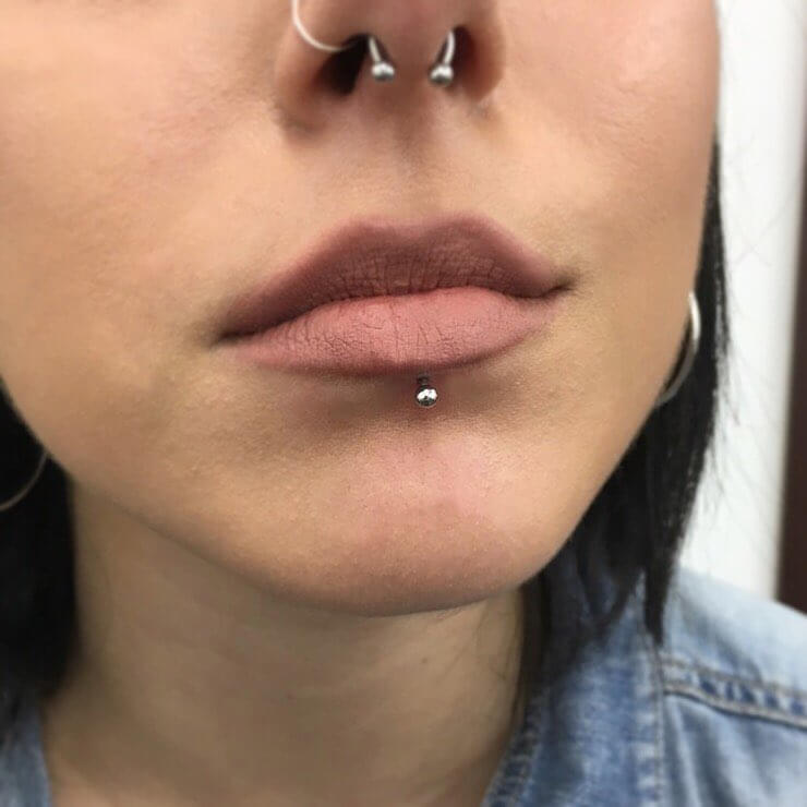 Labret Piercing 60 Ideas Pain Level Healing Time Cost